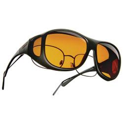 Cocoons Low Vision Pilot L Sunglasses- Black-Hazelnut