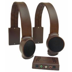 Wireless TV Listening Speakers - Dark Brown