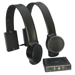 Wireless TV Listening Speakers - Black