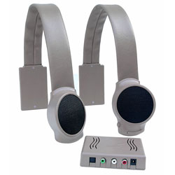 Wireless TV Listening Speakers - Gray