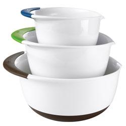 3-Piece Mixing Bowl Set with Pour Spouts