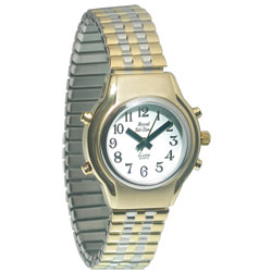 Ladies Royal Tel-Time Talking Watch- White Dial- Expansion Band