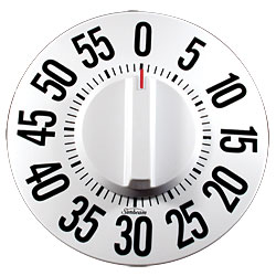 Tactile Low Vision Timer-White Dial, Black Numbers