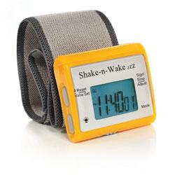 Shake-n-Wake ZZZ Vibrating Alarm Clock Watch- Orange