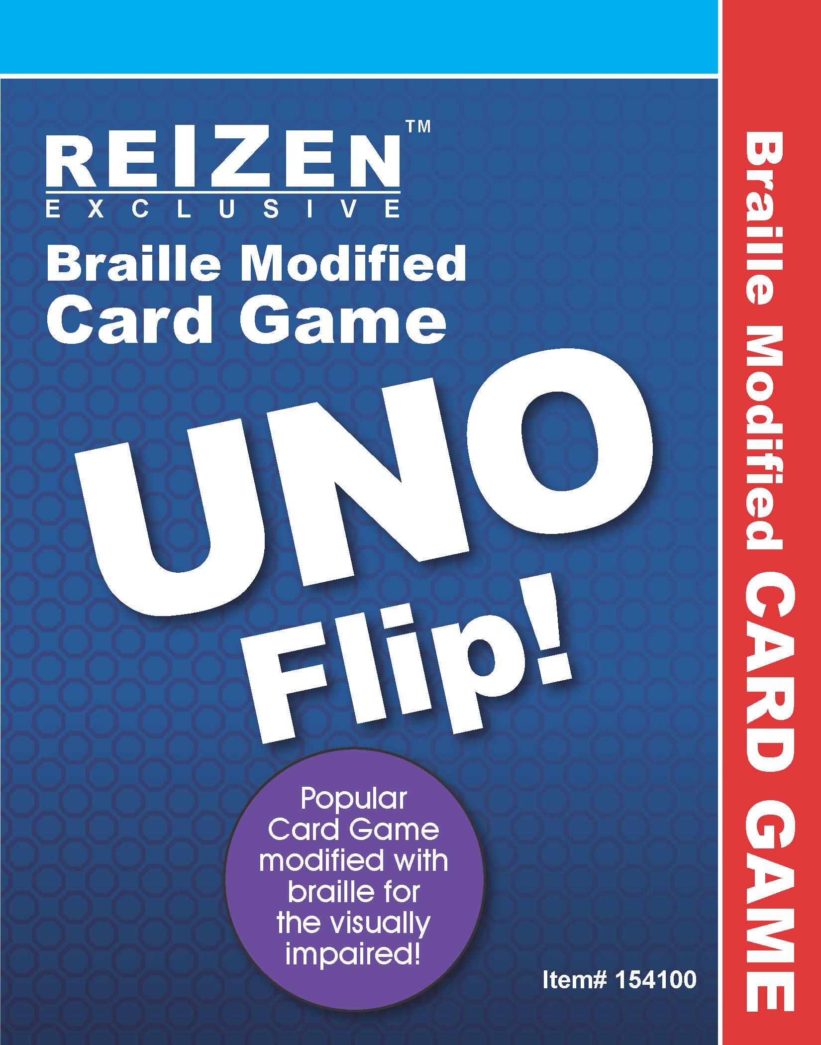 Uno Flip Braille Card Game