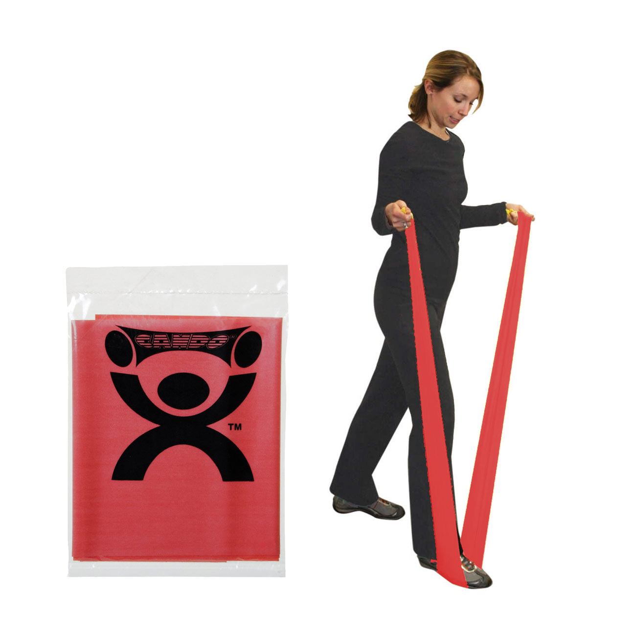 CanDo Latex Free Exercise Band - 4-ft. - Red - Light Intensity