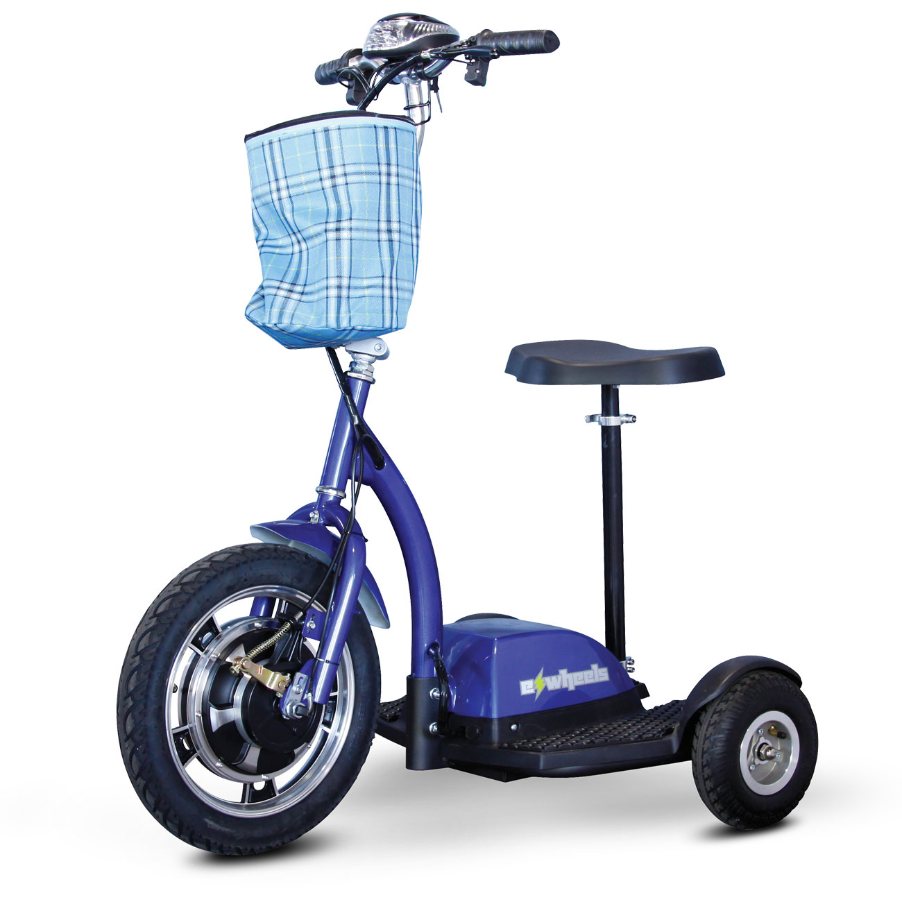 E-Wheels EW-18 Stand-N-Ride 3-Wheel Electric Mobility Scooter- Blue