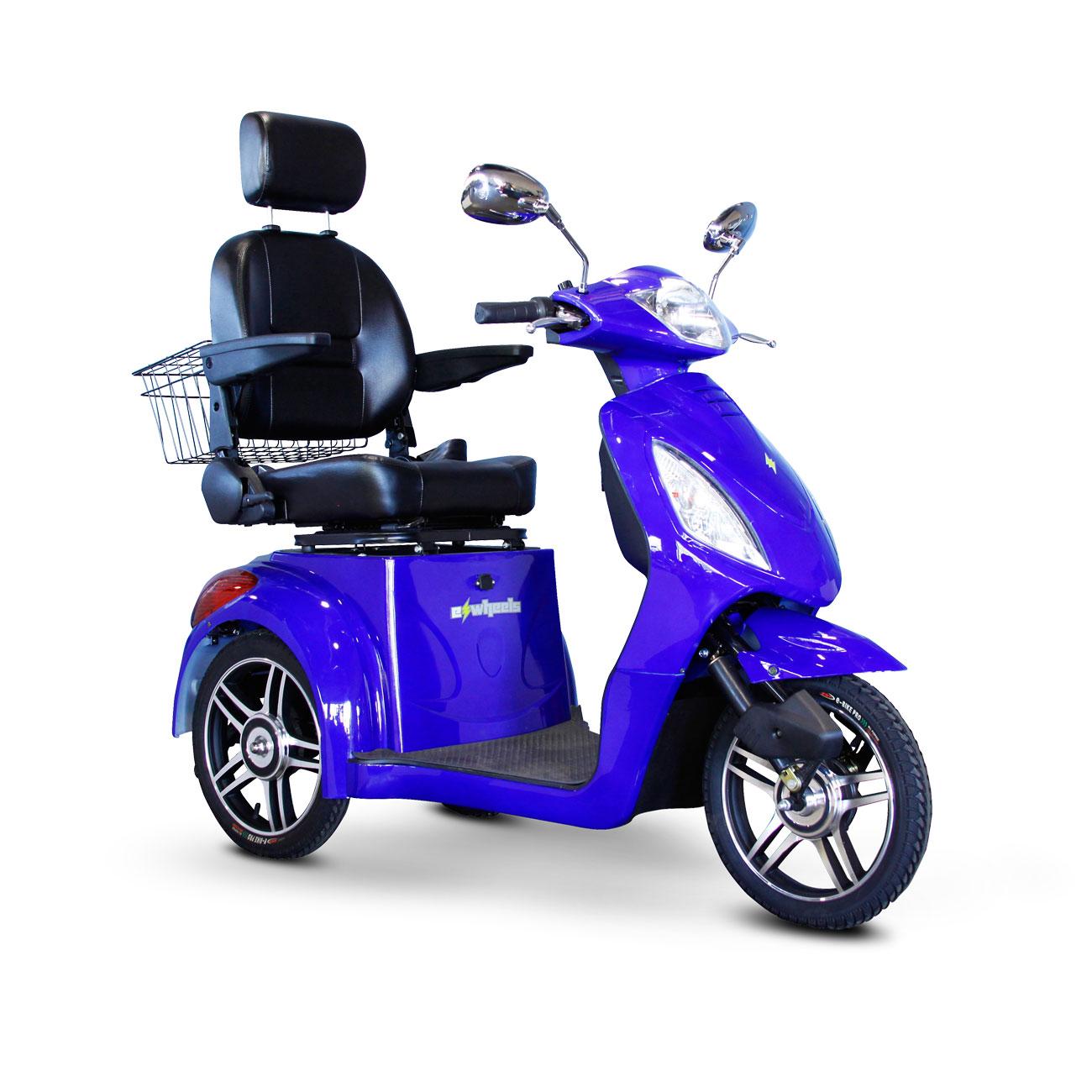 E-Wheels EW-36 3-Wheel Electric Senior Mobility Scooter - Blue