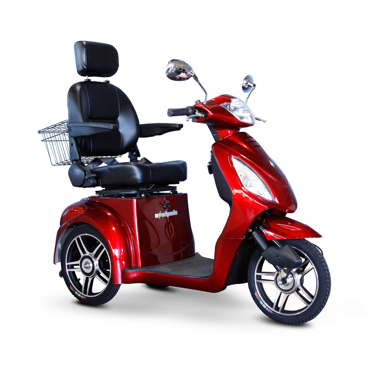 E-Wheels EW-36 3-Wheel Electric Senior Mobility Scooter- Red
