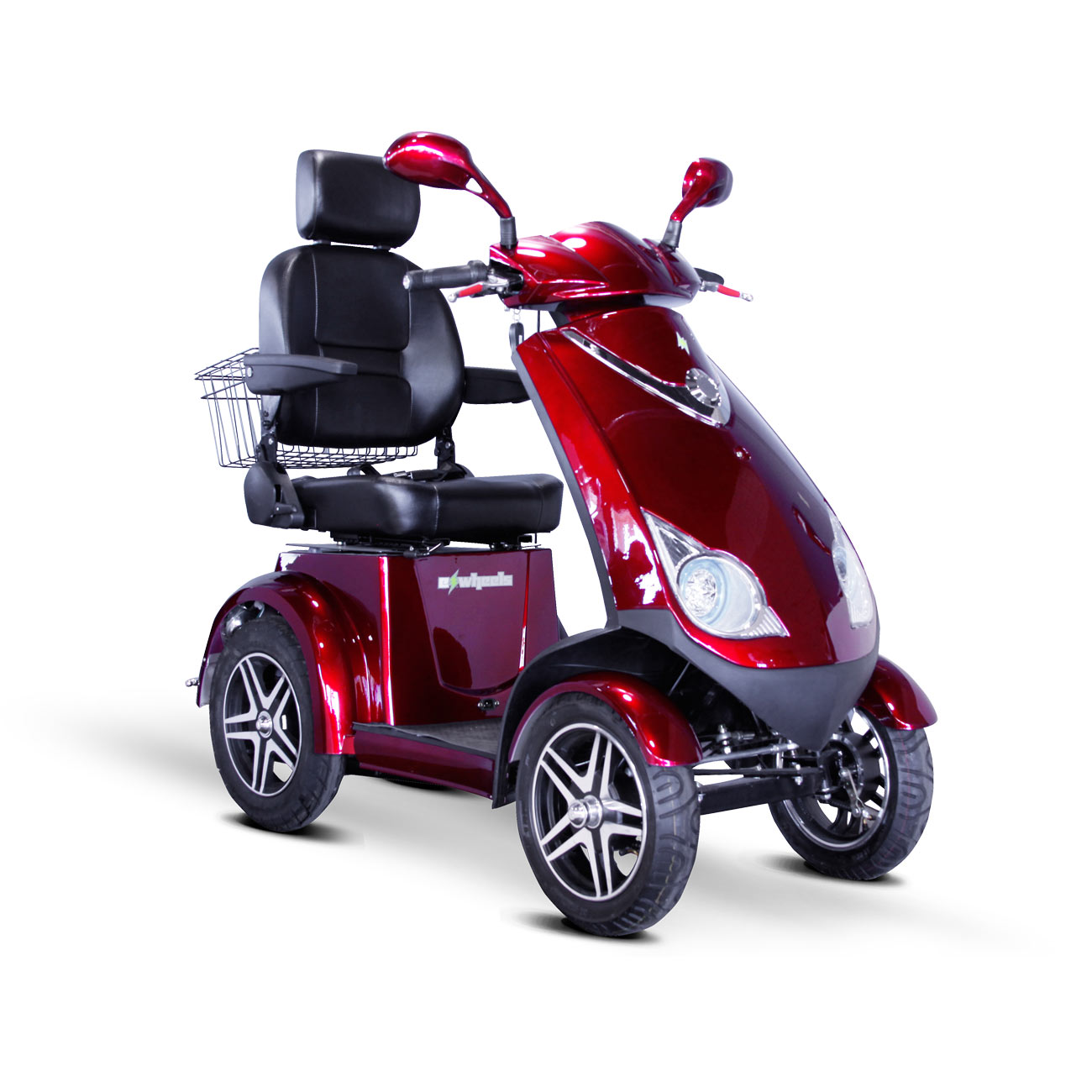E-Wheels EW-72 4-Wheel Electric Senior Mobility Scooter - Red