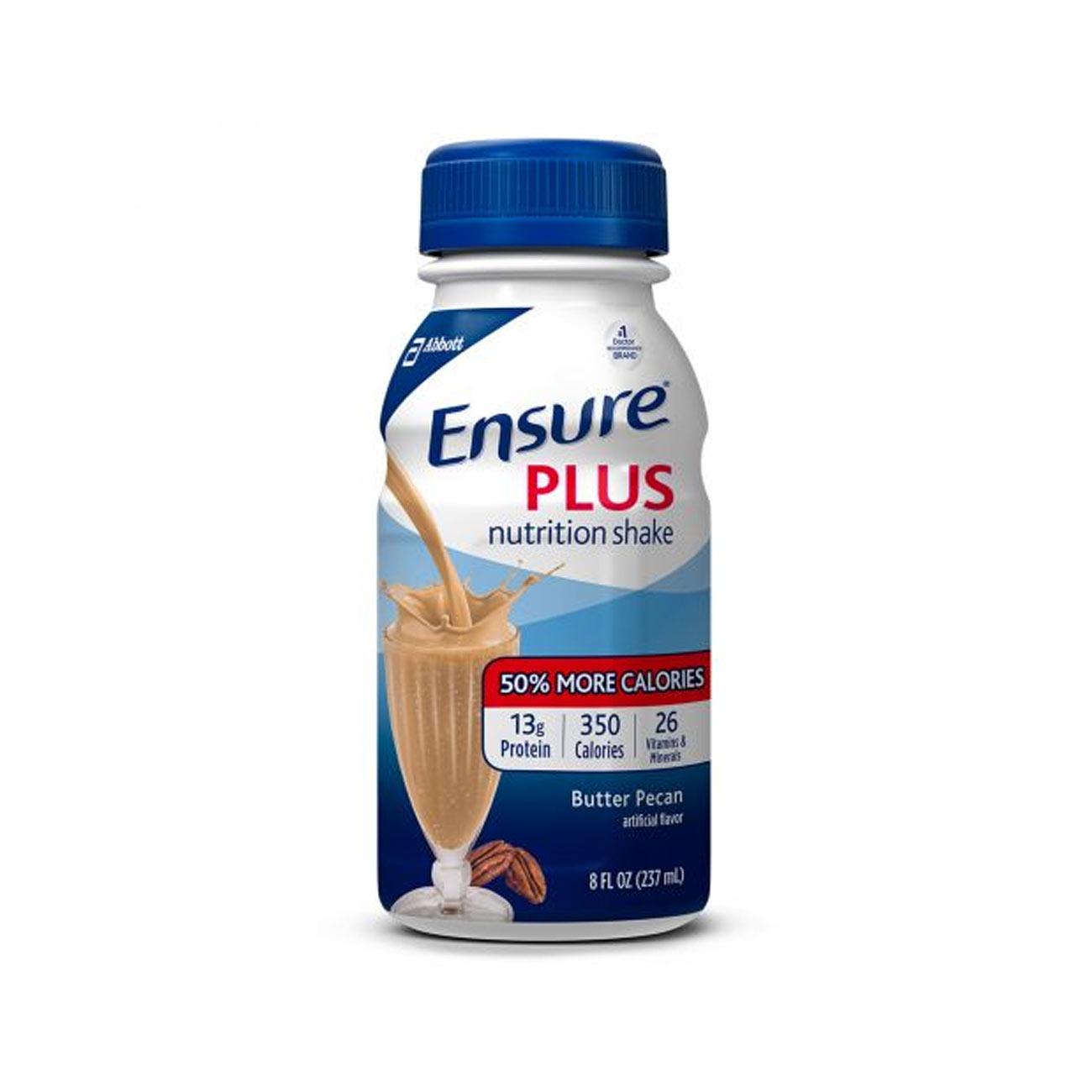 Ensure Plus Shake- Butter Pecan 8-oz Bottles- 24-cs