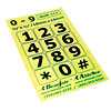 Telephone Stickers - Black on Green - Numbers Only