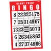 Giant Print Laminated BINGO Card- Red