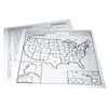 Braille Map USA - 11.5 in. x 11 in.