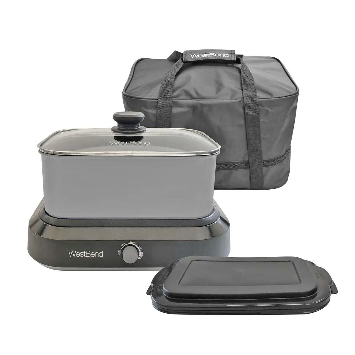 4-in-1 5-Quart Versatility Oblong Cooker - Silver