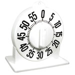 Tactile Long Ring Low Vision Timer With Stand - White Dial