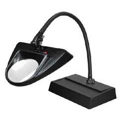 Dazor 30-Inch Hi-Lighting Desk Base LED Magnifier 5D 2.25x- Black