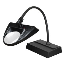 Dazor 30-Inch Hi-Lighting Desk Base LED Magnifier 3D 1.75X - Black