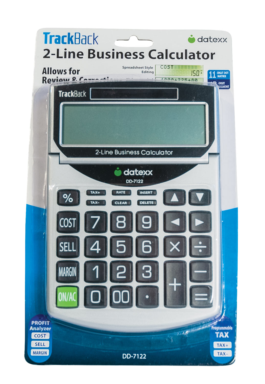 2-Line TrackBack Business Desktop Calculator