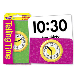 Low Vision Telling Time Pocket Flash Cards - click to view larger image