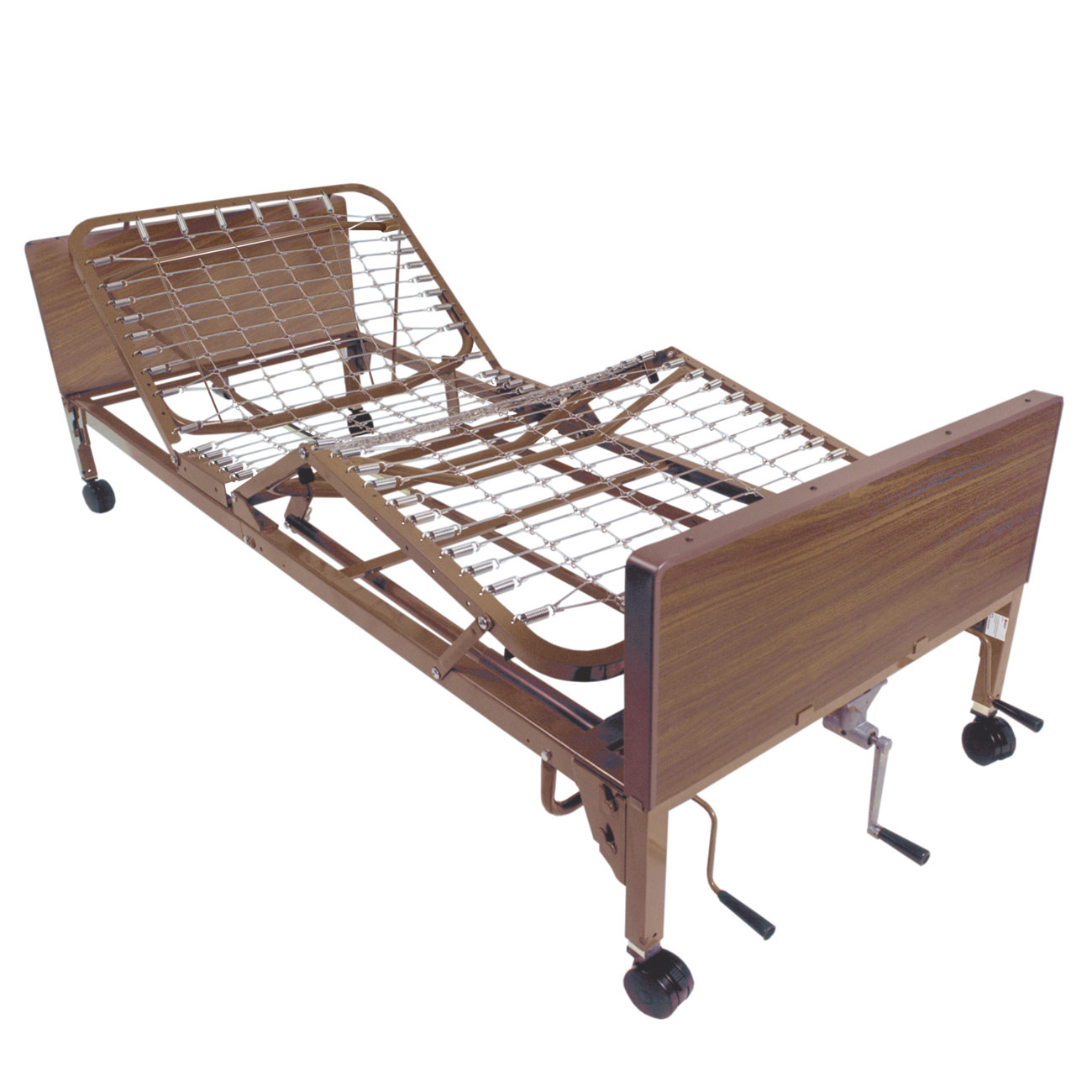 Multi-Height Manual Bed -full length  side rails - click to view larger image