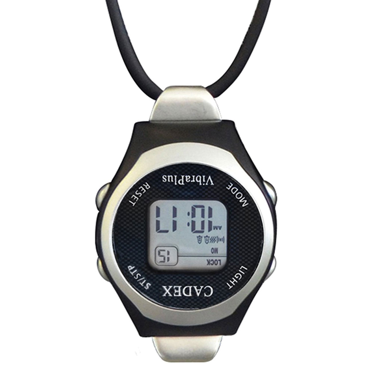 e-pill CADEX VibraPlus Fob Pendant Vibrating Digital Alarm Watch