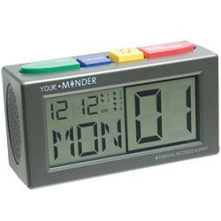 Talking Personal Recording Alarm Clock - click to view larger image