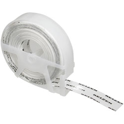 Reizen Transparent Vinyl Labeling Tape -9 rolls plus 1 free - click to view larger image