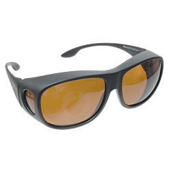 Solar Shield Fits Over Sunglasses - Copper - click to view larger image