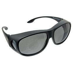 Solar Shield Fits Over Sunglasses - Gray
