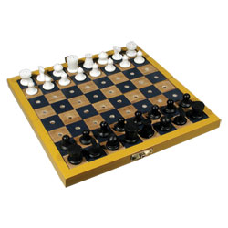 Travel Chess Set for the Blind or Those With Low Vision - click to view larger image
