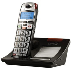 Serene HD 55dB Amplified Talking Cordless Big Button Phone with LCD - click to view larger image