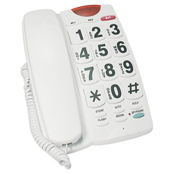 Big Button 40dB Amplified Speakerphone- White - click to view larger image