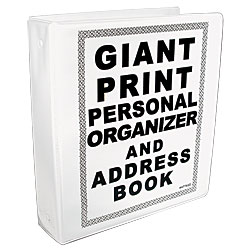Giant Print Personal Organizer and Address Book - click to view larger image