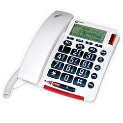 Geemarc AmpliVOICE50 Amplified Corded Telephone with Talking Caller ID - click to view larger image
