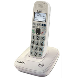 Clarity D702 30dB DECT 6.0 Amplified Low Vision Cordless Phone w-CID - click to view larger image