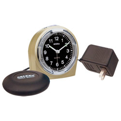Reizen Braille Quartz Alarm Clock with Vibrator Combo - click to view larger image