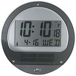 Low Vision Atomic Solar Wall Clock