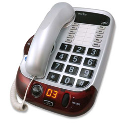 Alto Amplified 53dB Big Button Speakerphone - White - click to view larger image