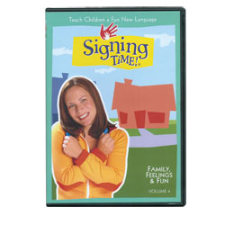 Signing Time Vol. 4 - Family, Feelings and Fun -DVD - click to view larger image