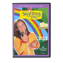 Signing Time Vol. 6 - My Favorite Things -DVD - click to view larger image