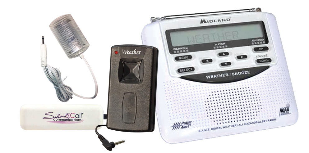 Midland Alert Weather Radio w-Vibrator and Strobe - click to view larger image