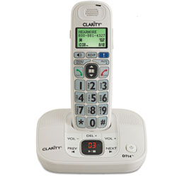 Clarity D714 Amplified Low Vision Big Button Cordless Phone - 40dB - click to view larger image