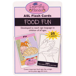 Learning Hands ASL Flash Cards- Food Fun - click to view larger image