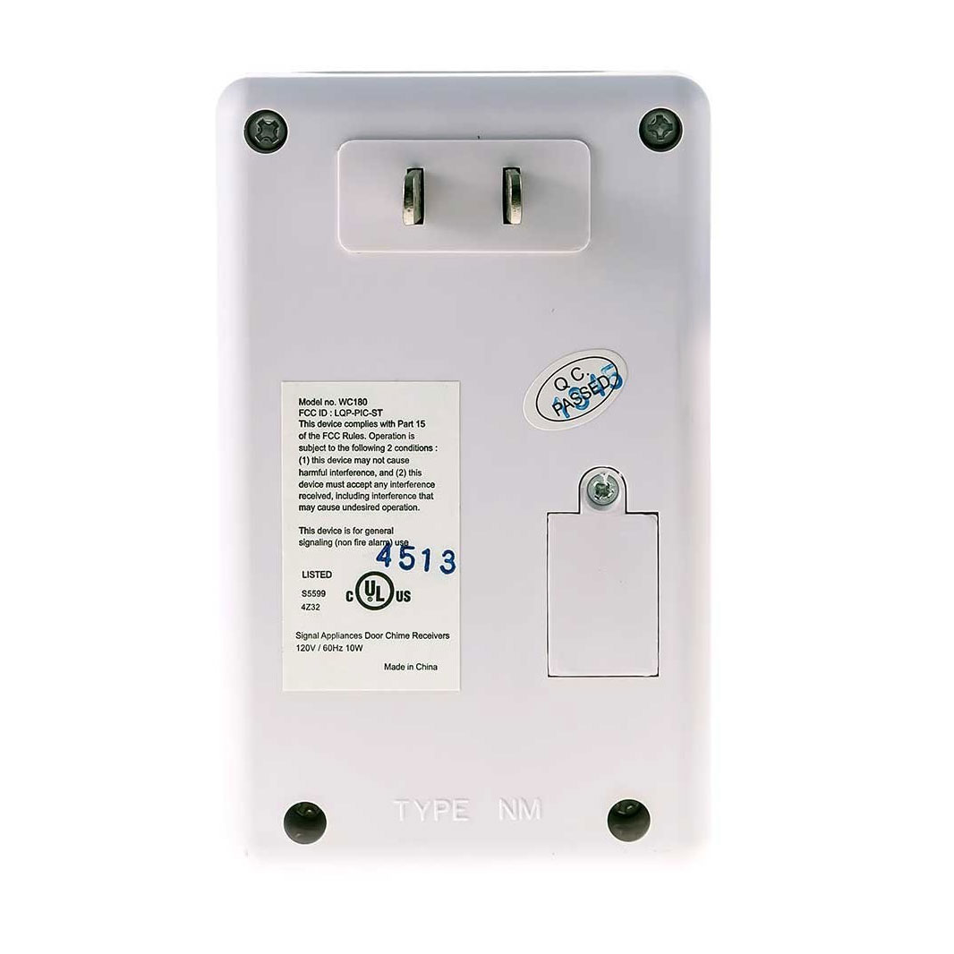 Wireless Door Chime With Loud Chime And Flashing Strobe