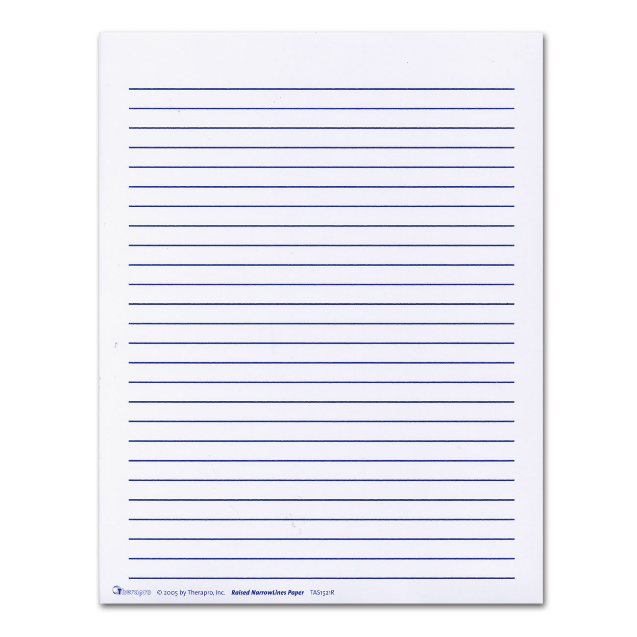 raised line paper This full sized writing paper has durable raised lines that sit 3/8 apart these  raised lines will make writing easier for individuals with low vision pack of 50.