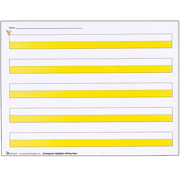 ... Highlighter Writing Paper -Package of 50 | Paper/Books - HearMore.com