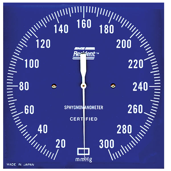 how to read the blood pressure dial