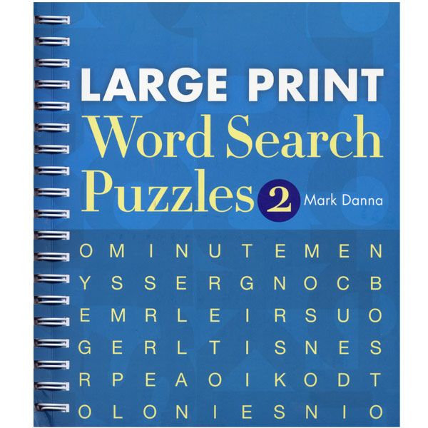Large Print Word Search Puzzles Number 2 Large Print