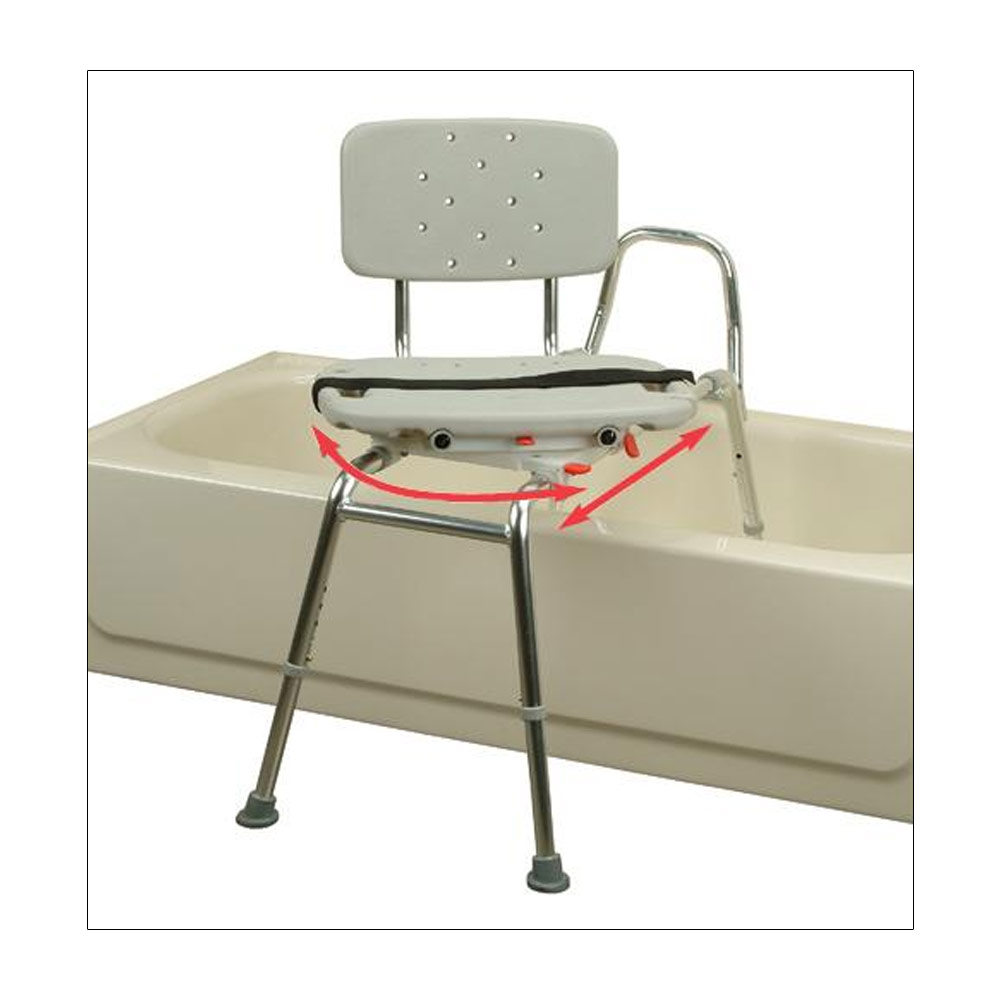 Transfer Bench with Molded Swivel Seat